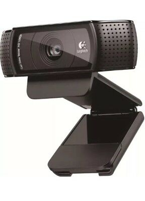 New Black Logitech C920 HD Pro USB 1080p Webcam with 6ft Cable and Manual