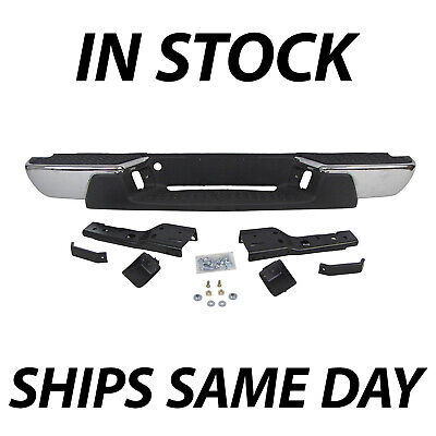 NEW Chrome Steel Rear Bumper Assembly for 2008-2012 Chevy Colorado & GMC Canyon