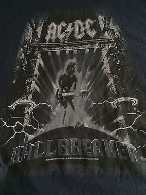 AC/DC T-Shirt XL 1995 Ballbreaker Album Cover Blue Short Sleeves Admit One Mens