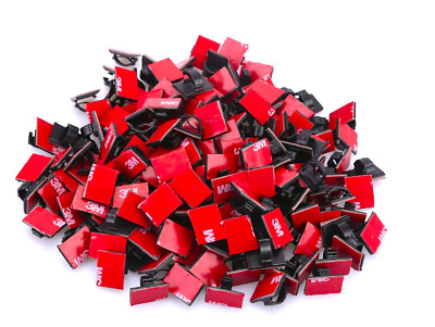 Kedsum 200pcs Adhesive Cable Clips Cord Holder Wire Organizer Management 3M New