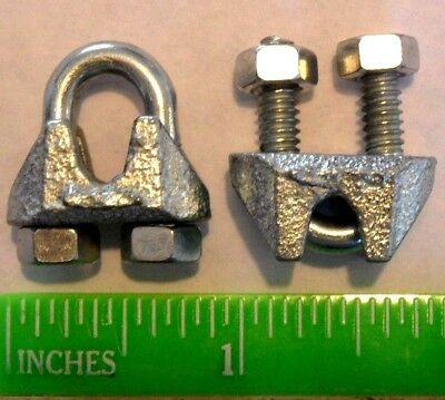 Cable Clamps U-Bolts Galvanized Clamps Steel Aircraft Cable Wire Clips U Bolts