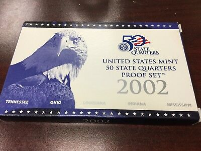 2002 U.S. Proof Set State quarters set