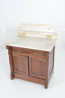 Antique Marble Vanity Washtop Cabinet From New Zealand