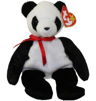 TY Beanie Baby - FORTUNE the Panda Bear (1997) RETIRED
