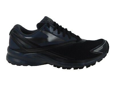 ee4743246ded2 New Mens Brooks Launch 4 Running Shoes Trainers Black   Anthracite   Silver