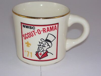 Scout-O-Rama NWSC '71 Coffee Cup Mug Vintage Made in USA