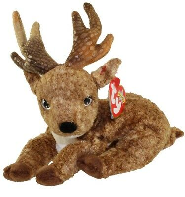 TY Beanie Baby - ROXIE the Reindeer [Black Nose] (2000) RETIRED