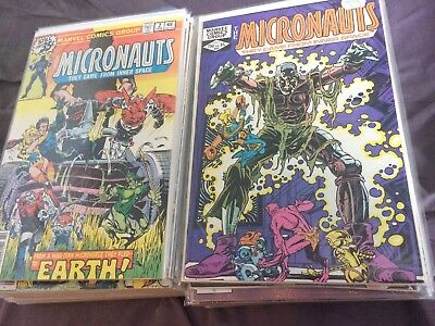 MICRONAUTS Giant Lot of 50 Issues  (1979-2004, Marvel/Image) lot of 50 Bag/Board