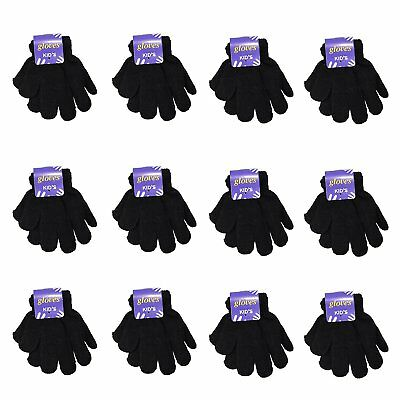 Toddler / Children Winter Knitted Magic Gloves Wholesale Lot 6-12 Pairs