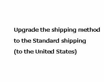 Upgrade the shipping method to Standard shipping(to the UnitedStates)