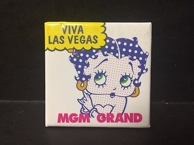 Betty Boop MGM Grand 1993 Viva Las Vegas Pinback Pin Button Collectors Series 5