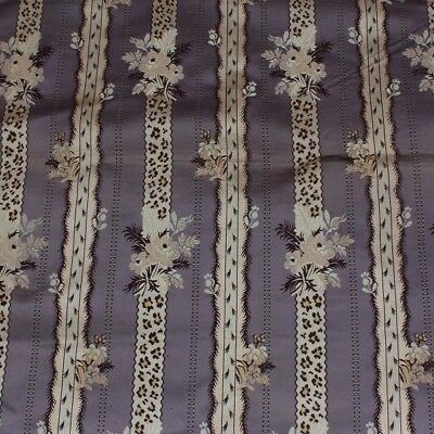 Antique French Lyon Silk Brocade Lampas Fabric Sample c1860-1870*~L-23 X W-21""
