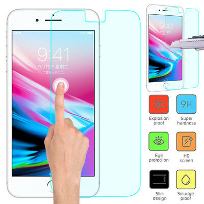 0.1/0.15mm Genuine Tempered Glass Screen Protector for Apple iPhone 8 7 6SPlus X