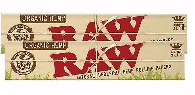 Raw king Size Slim Organic Slim 2 packs