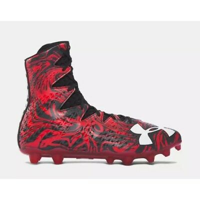 NEW Under Armour Highlight Lux MC Football Cleats Red Black Mens 11 1297953-061