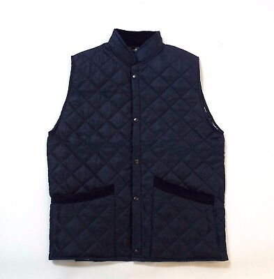 Campbell Cooper Brand New Adults Mens Quilted Horse Riding Waistcoat Navy Blue