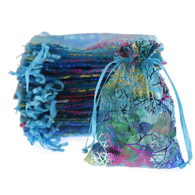 50 x Organza Wedding Xmas Party Favor Gift Candy Bags Jewellery Packing Pouch AU
