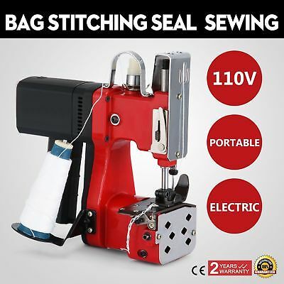 110V Industrial Portable Electric Bag Stitching Closer Seal Sewing Machine US