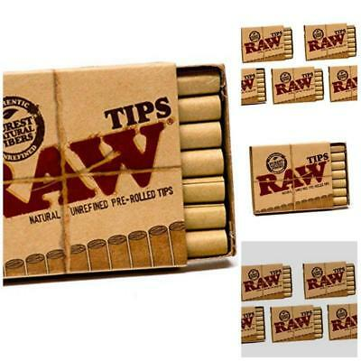 Raw Natural Unrefined Air Flow Pre-Rolled Filter Tips 5 Pack ( 21 Per Box ) New