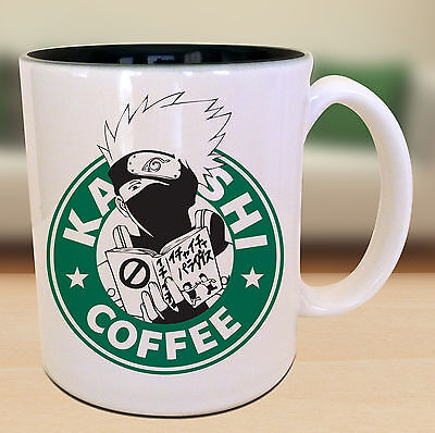 Kakashi Hitake Starbucks Anime Manga Japanese Insipred Cartoon Geek Nerd Mug