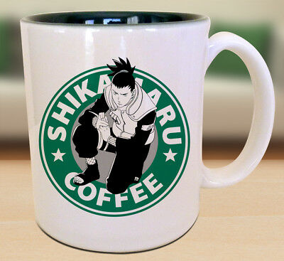 Shikamaru Nara Starbucks Anime Manga Naruto Cartoon Geek Nerd Mug
