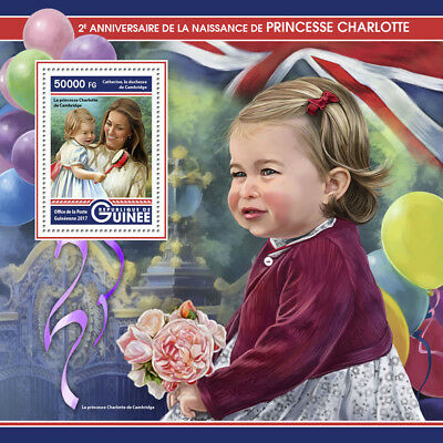 Guinea 2017 MNH Princess Charlotte 2nd Bday Prince William 1v S/S Royalty Stamps