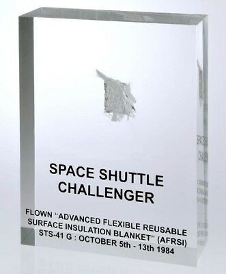 Space Shuttle STS-41 G Challenger 'Flown Surface Insulation Blanket Fragment'