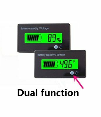 Multifunctional 48V LCD Battery Fuel Gauge Indicator Battery Capacity Monitor