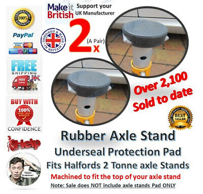 4 x Axle Stand under seal rubber protection pads classic car Jack  Halfords JCB