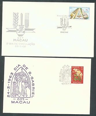 Macao 1963-66 two First day covers