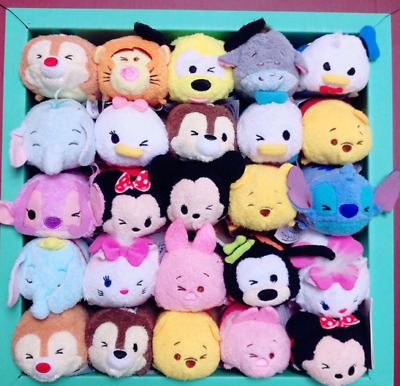 Disney TSUM TSUM Mini Tigger Chip Dale Mickey Stitch Dumbo Plush Toys With Chain