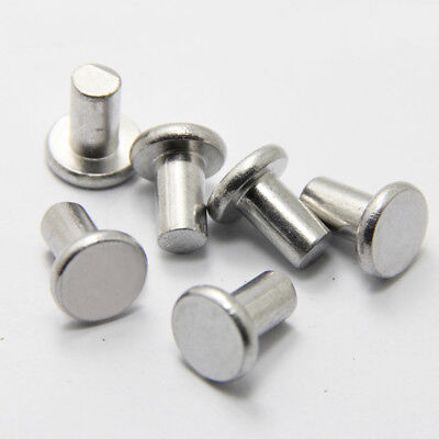 100Pcs M2x(3-12mm) GB109 Aluminum rivets flat head solid hand percussion rivet