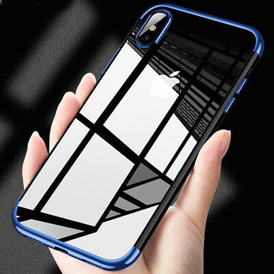 LUXURY Hybrid Clear 360° SHOCKPROOF Silicone Case Cover for iPhone X 8 Plus SE