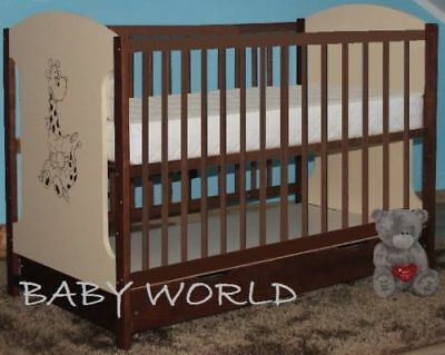 Miki Baby Cot With Drawer + High Quality Mattress To Choose Best Value 4 Colours