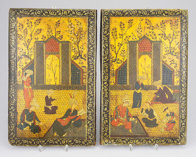 19th C. ANTIQUE ARABIC ISLAMIC PERSIAN LACQUER PAPPE MACHE QAJAR