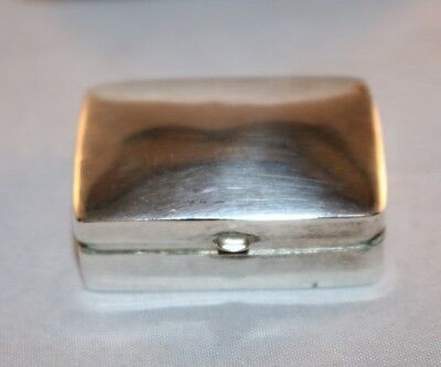 Vintage Sterling Silver Trinket Pill Box 925 Snuff Hinged