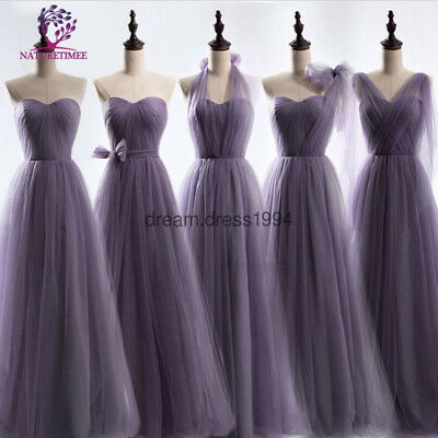Lace Long Chiffon Evening Formal Party Ball Gown Prom Bridesmaid Dress Size 6-24