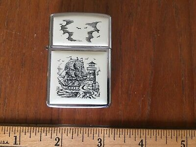 ZIPPO Lighter-Scrimshaw Style-great condition!!
