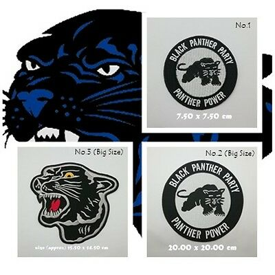 Black Panther Party Patch Sew On Iron Embroidered Jacket Huge Tiger Free Shippin