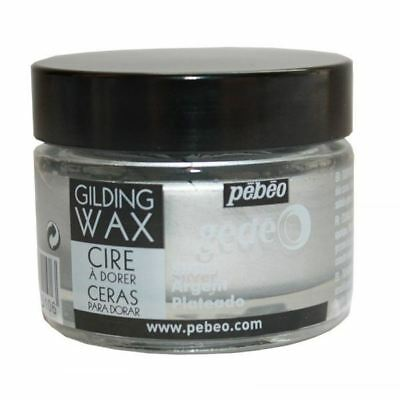 Pebeo Gedeo Gilding Paper Craft Emboss Rub Wax 30ml Tub Pot - Platinum Silver