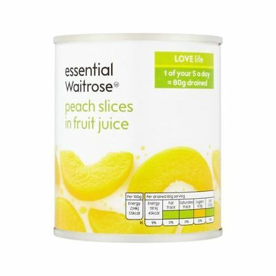 Peach Slices in Fruit Juice essential Waitrose 205g