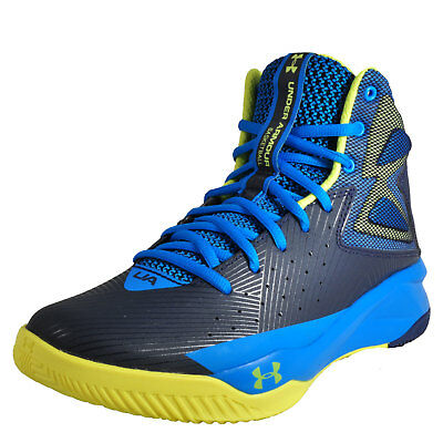Under Armour Rocket Men's Mid Top Basketball Trainers Blue