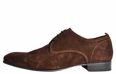 Base London Business Men's Suede Leather Smart Classic Formal Dress Shoes Brown