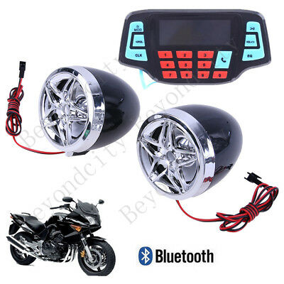 3' UTV/ATV/Snowmobile/Marine Amplified Speaker System Bluetooth Black D62_2