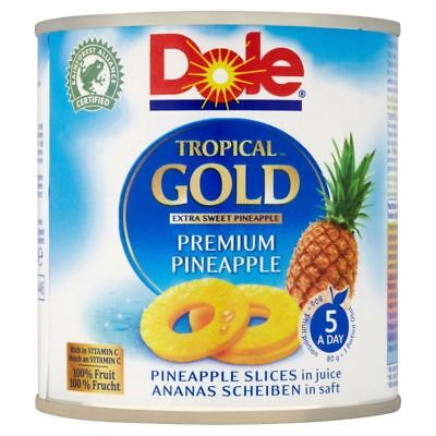 Dole Tropical Gold Premium Pineapple Slices in Juice (432g)