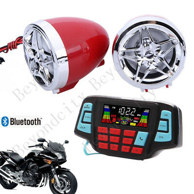 3' UTV/ATV/Snowmobile/Marine Amplified Speaker System Bluetooth Red D62_3