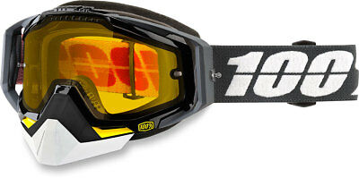100% Snow Snowmobile RACECRAFT Goggles (Fortis w/Yellow Lens)