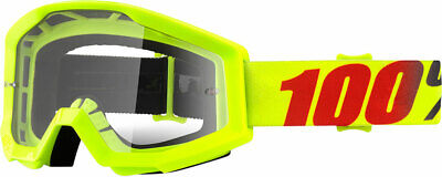 100% MX Motocross STRATA Goggles (Mercury w/Clear Lens)
