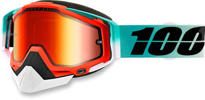 100% Snow Snowmobile RACECRAFT Goggles (Cubica w/Mirror Red Lens)