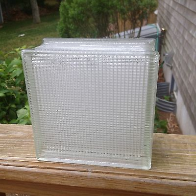 Vintage Architectural Salvage Glass Building Or Window Block